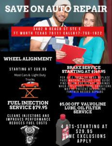 Auto Repair Specials Fort Worth